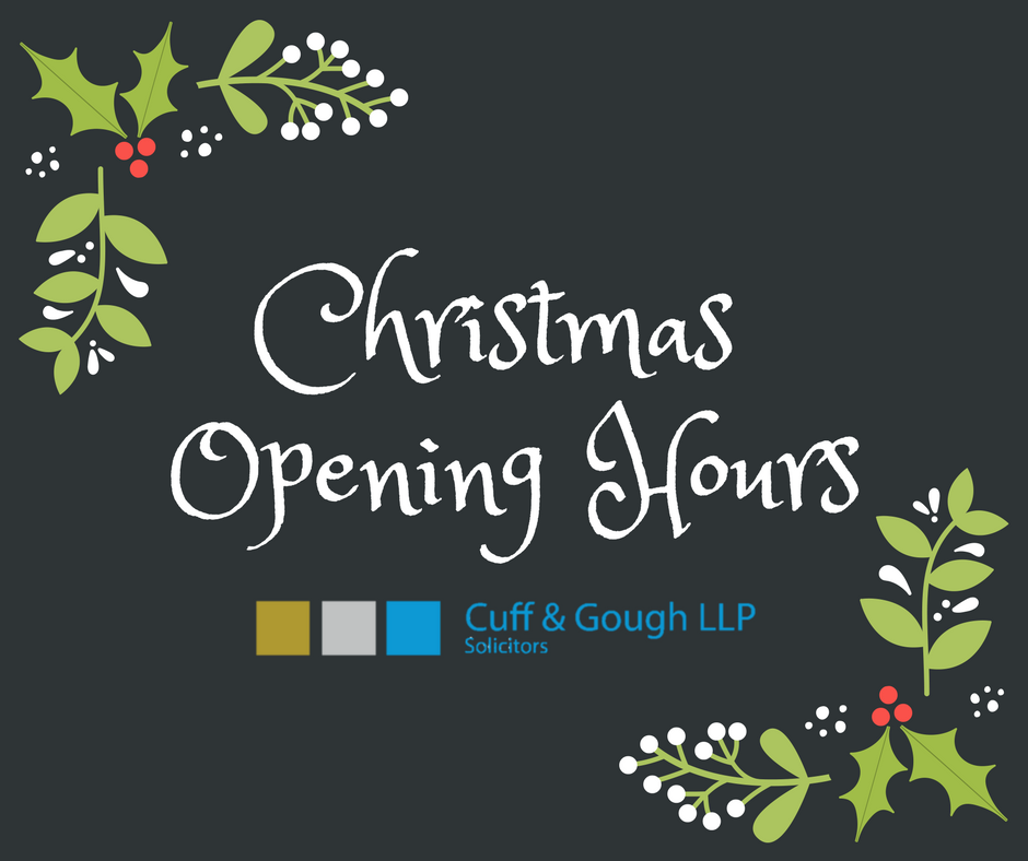 christmas opening hours cuff