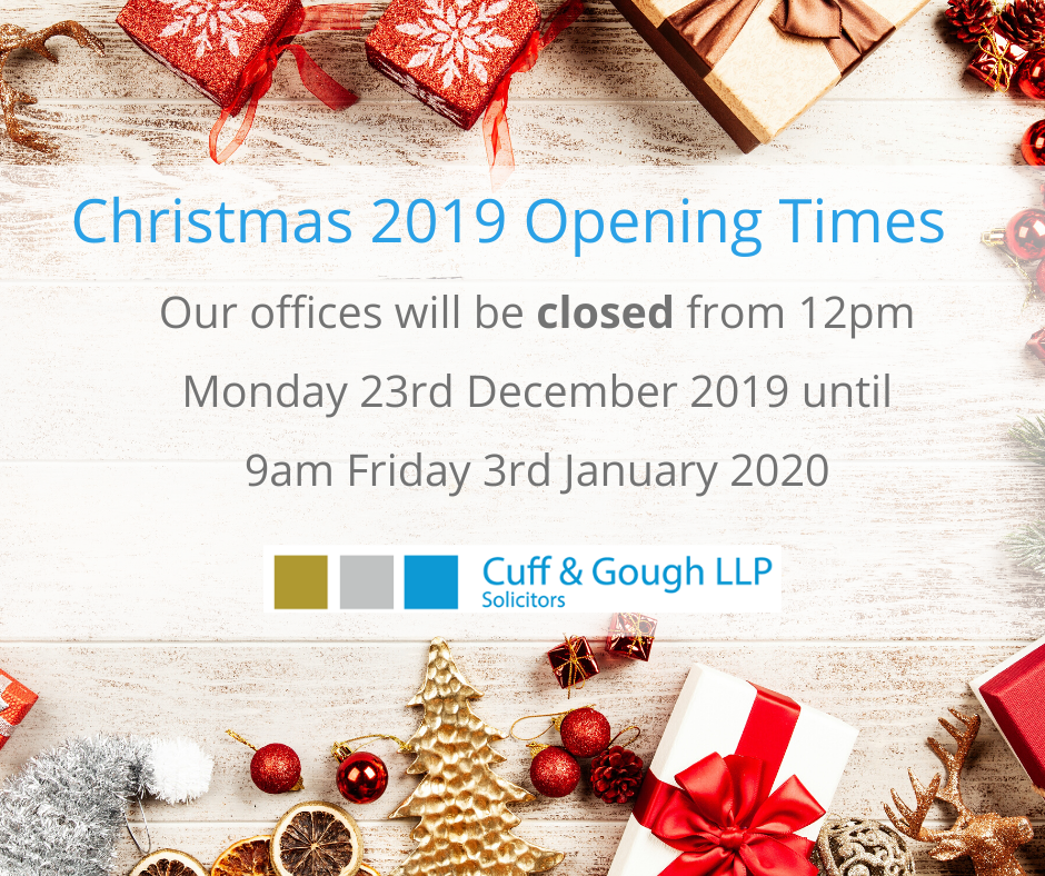 Christmas 2019 Opening Times